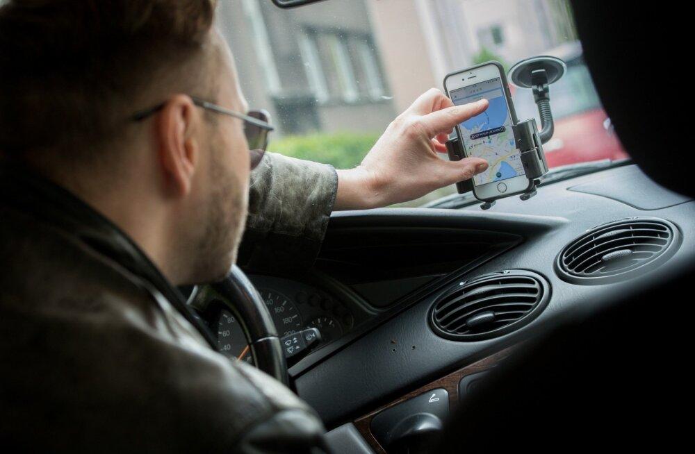 Uber äpp-i kasutaja