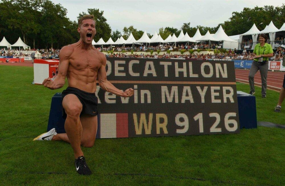 Kümnevõistluse maailmarekord kuulub nüüdsest Kevin Mayerile.