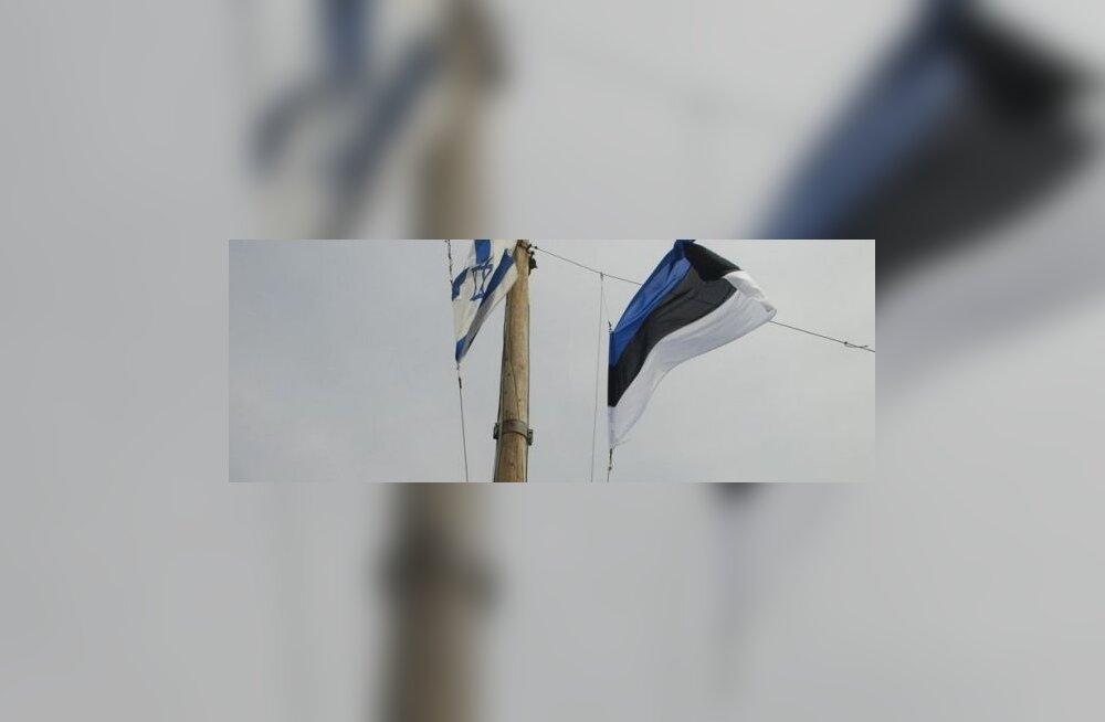 Maaleht Iisraelis: eestlased heiskasid Galilea järvel rahvuslipu
