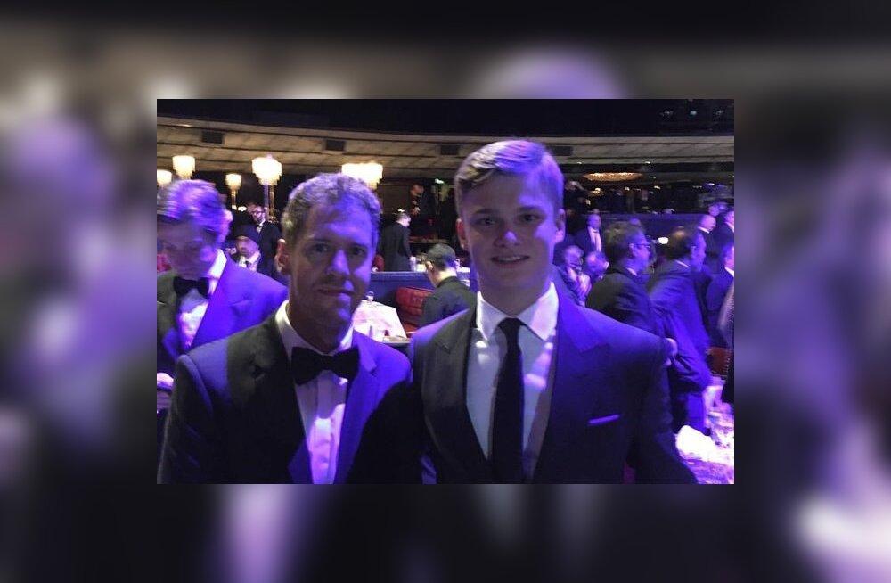 Sebastian Vettel ja Ralf Aron