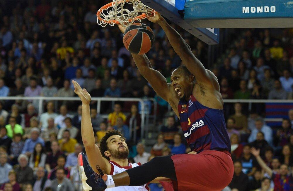 Barcelona tegi kindla võiduga suure sammu Euroliiga veerandfinaalide suunas