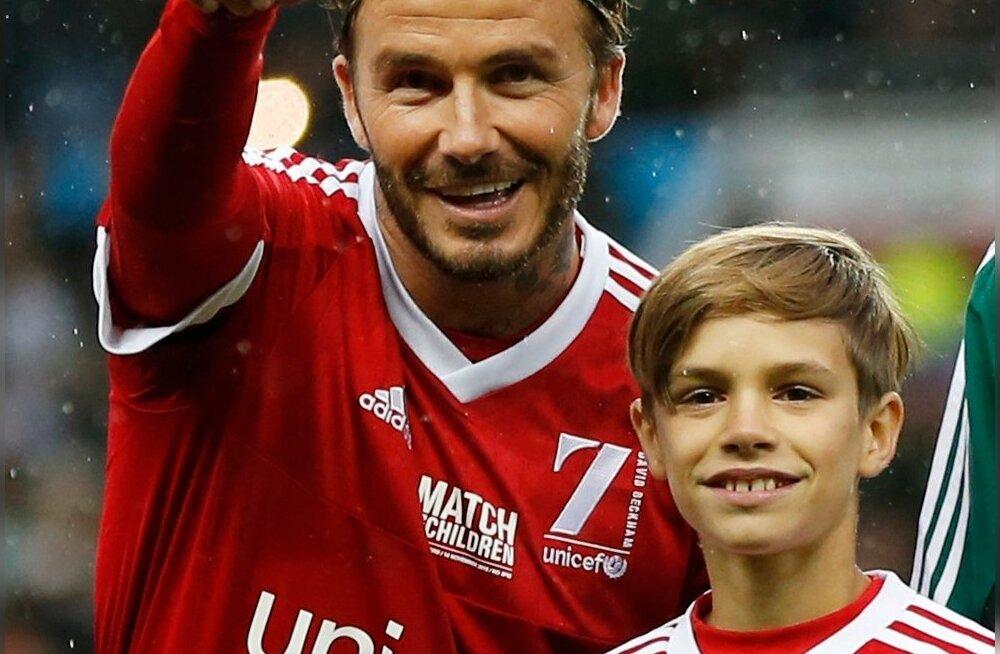 David ja Romeo Beckham.