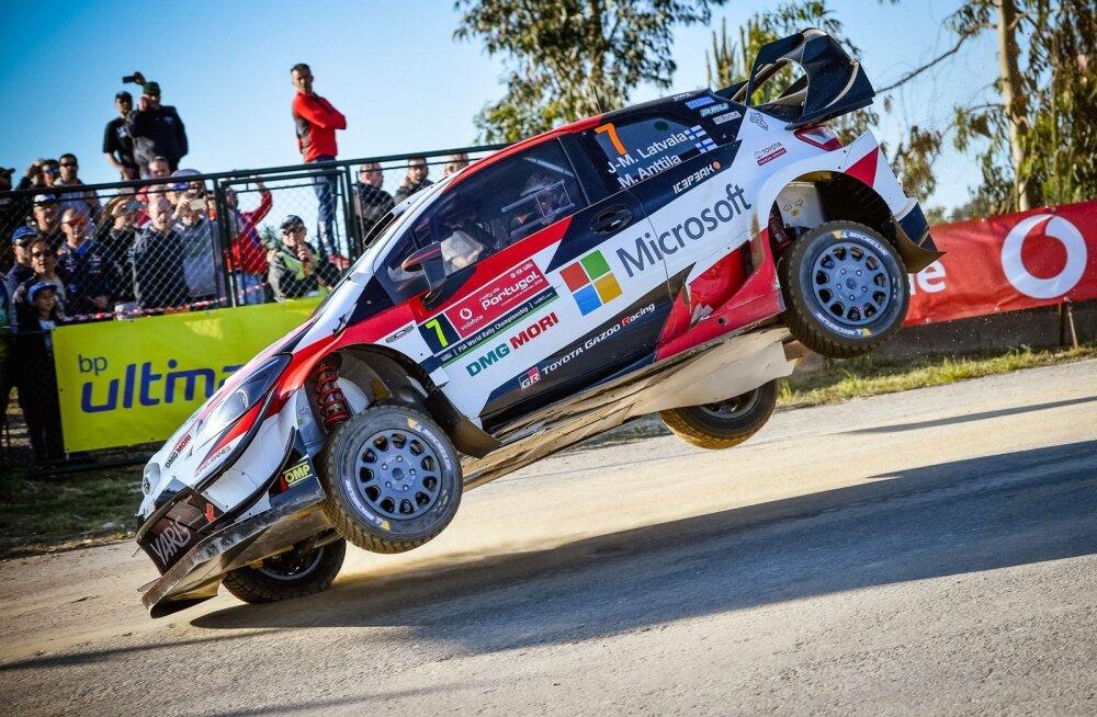 Jari-Matti Latvala Toyotaga Portugali rallil.
