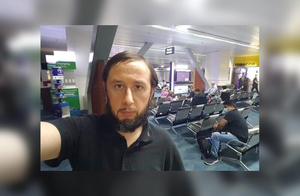 """Kolm kuud Filipiinide lennujaamas konutanud jõhvilane jäi reisil koju lennukist maha. """"Arvasin, et lennuk läheb kell 11"""""""