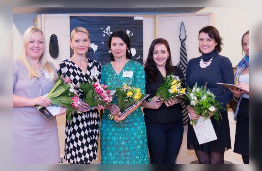 Pildil (vasakult): Unistuste Tööandja 2014 finalistide esindajad: Tene Link (Starmaker), Annika Lootus (Swiss Property), Reet Kangro (Võru Järve Kool), Liisa Lillemets (Eesti Noorteühenduste Liit), Häli Õigus (LHV Pank) ja Berit Heinmets (LHV Pank)