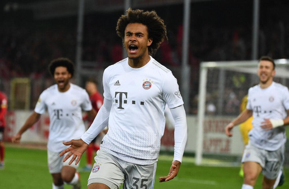 Bundesliga debütant sai kahe minutiga jala valgeks ja aitas Bayerni esikolmikusse