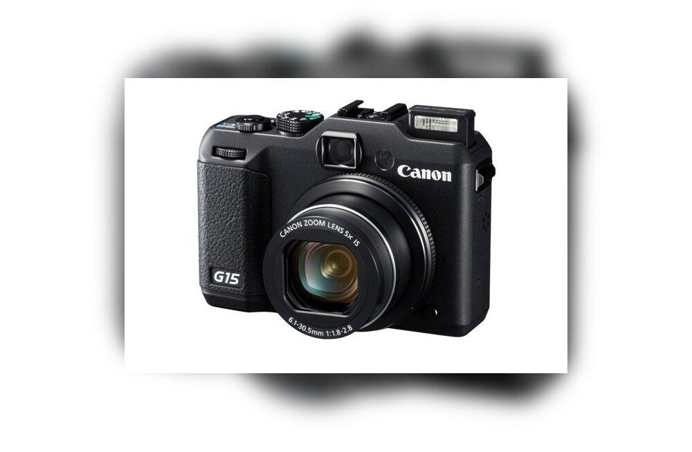 Canoni f/1,8 avaga PowerShot G15 ja maailma esimene 50x optilise suumiga kompaktkaamera