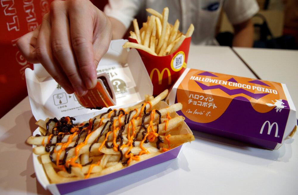 McDonald'si päästis Jaapanis šokolaadiga friikartulid