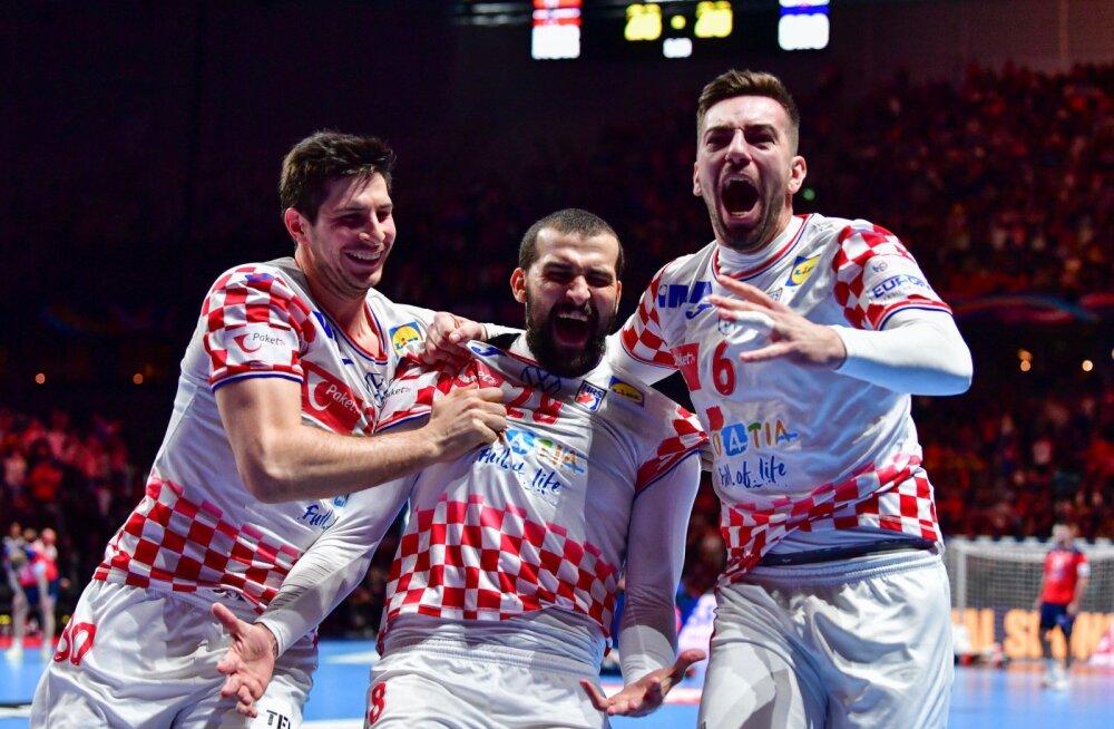 Horvaadid sammusid käsipalli EM-il finaali.