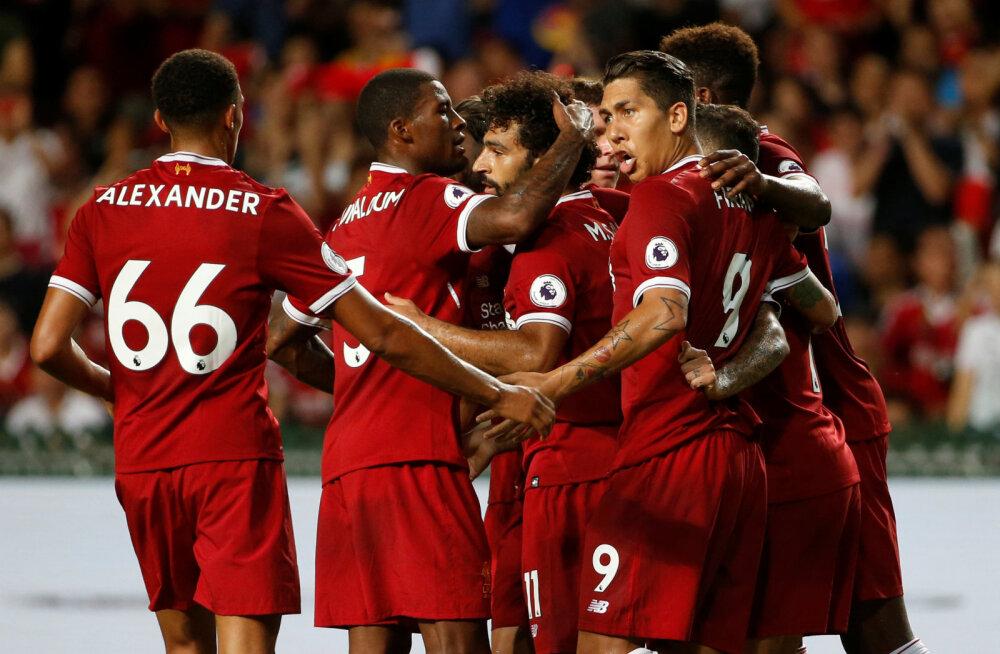 Liverpool tähistab Mohamed Salahi väravat