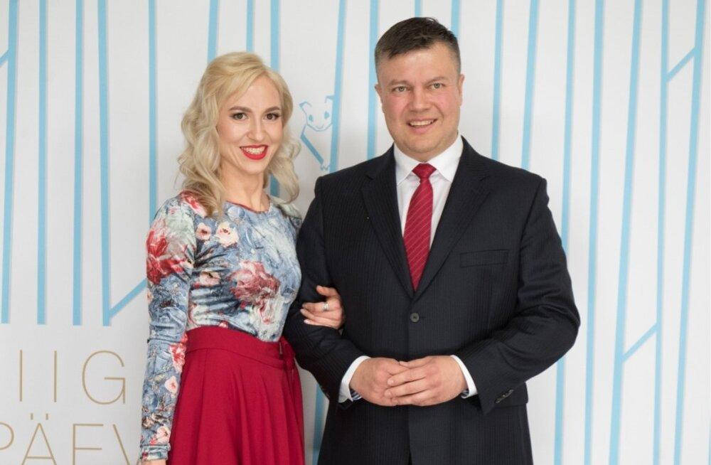 Riigikogu liige Tanel Talve ja pr Diana Gusseinova