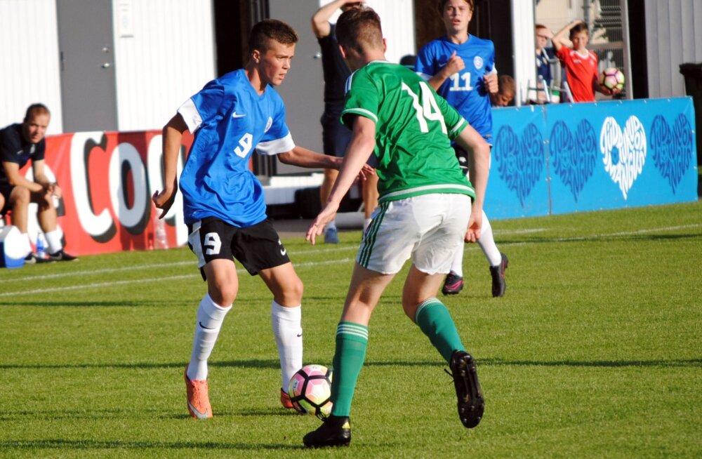 Jalgpalli U17 koondis sõidab Ukrainasse turniirile
