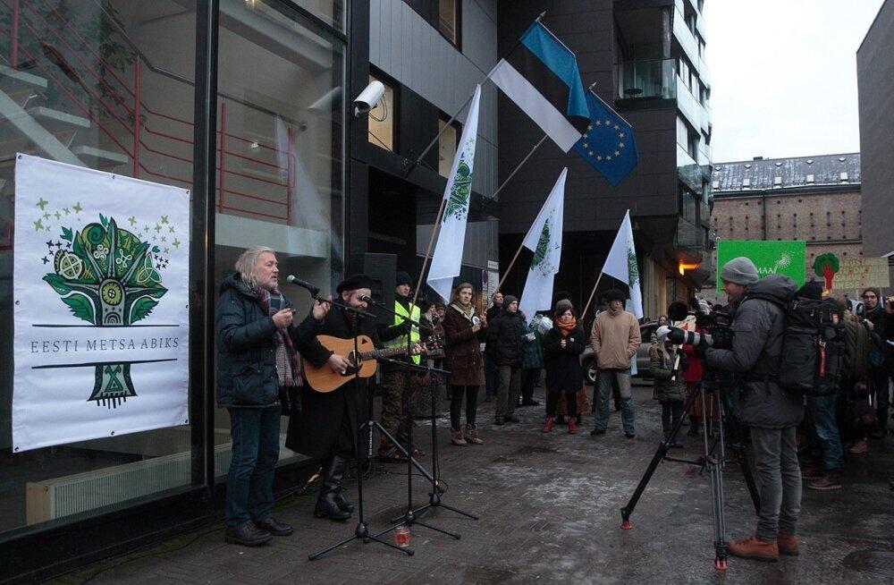 Säästva metsamajanduse toetuseks korraldatud meeleavaldus