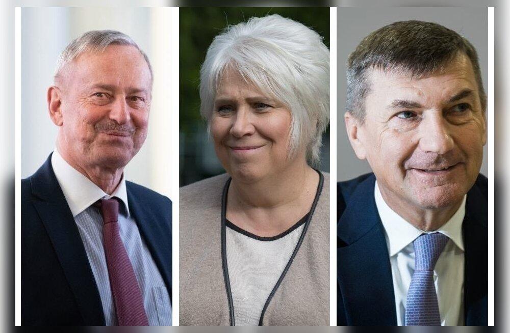 Кто станет следующим президентом ЭР? Ансип, Каллас и Кальюранд выдвигать свои кандидатуры не намерены