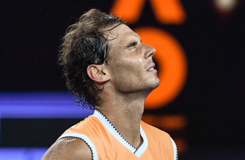 Rafael Nadal Austraalia lahtiste poolfinaalis Federeri kukutanud kreeklasele võimalust ei jätnud