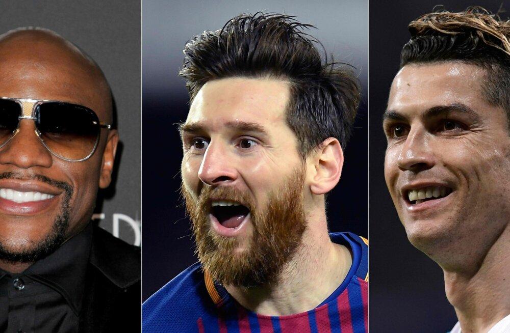 EDETABEL | Kes on lõppeval kümnendil enim raha teeninud sportlased?