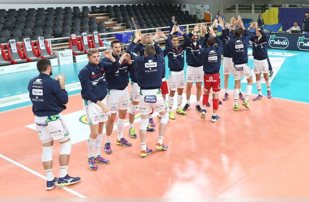Trentino jõudis Itaalia karikasarjas poolfinaali, Teppan sai käe valgeks