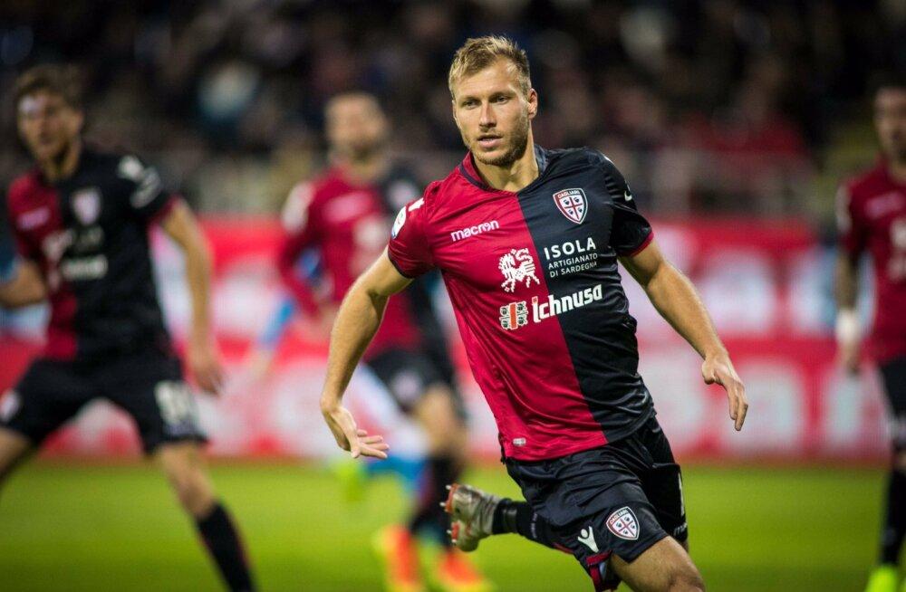 Cagliari kaotas Laziole, Klavan vahetati poolajal välja