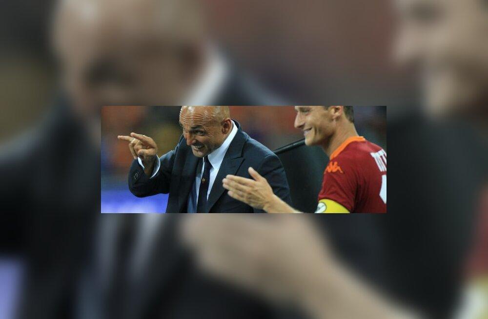 Luciano Spaletti ja Francesco Totti (AS Roma)