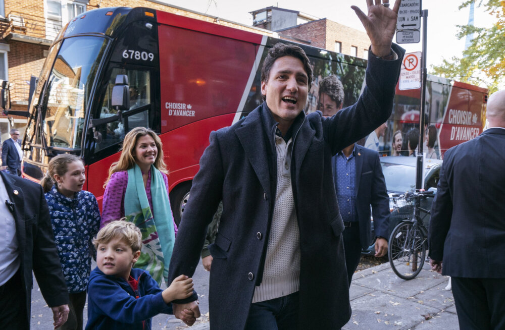 Kanada valimised võitis küll liberaalne peaminister Trudeau, aga ees ootab vähemusvalitsus