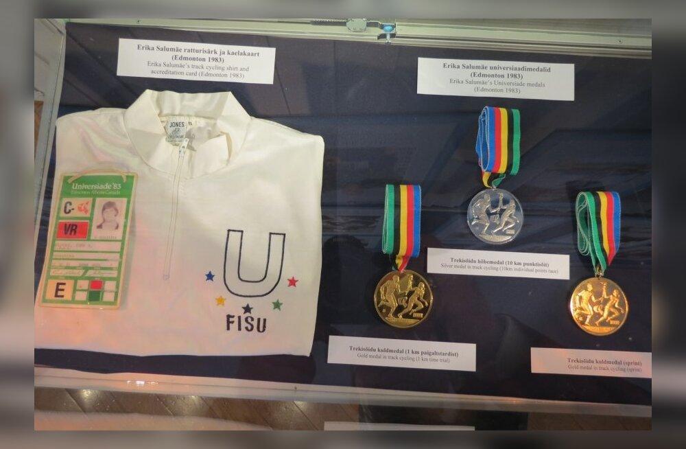 Erika Salumäe medalid Spordimuuseumis