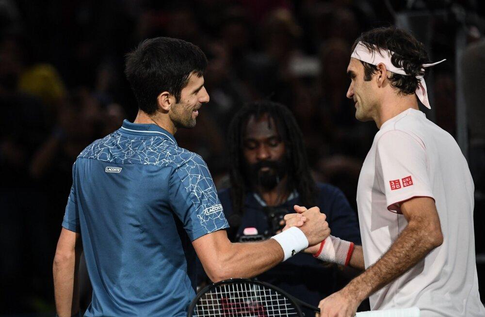 Djokovicile kaotanud Federer peab 100. turniirivõitu veel ootama