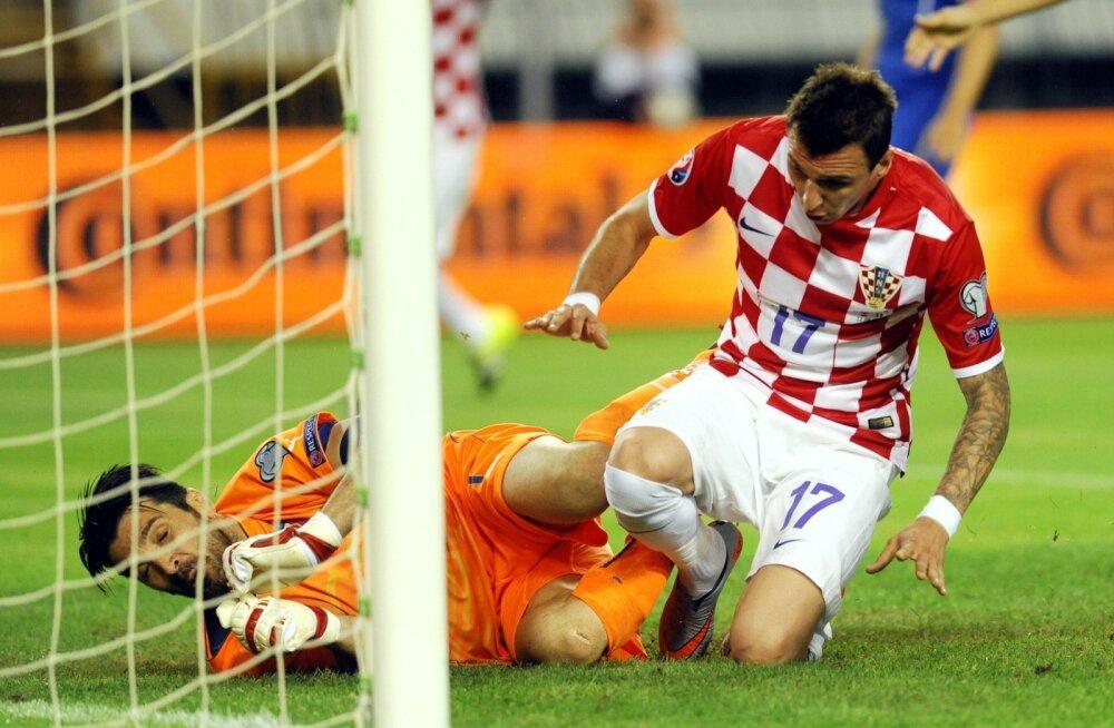 Jalgpalli EM-valikmäng Horvaatia vs Itaalia