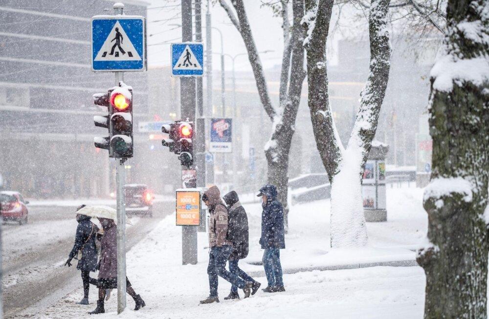 Hommikune lumi Tallinnas, 26.10.2017