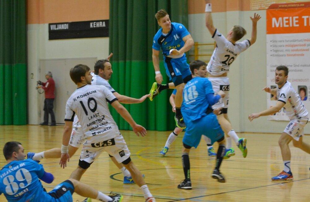 Käsipalli Balti liiga mäng Viljandi HC ja HC Kehra