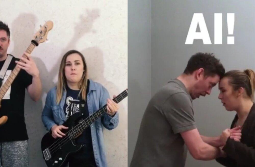 VAATA JA NAERA KAASA! Kristel Aaslaid teeb kallimaga humoorikaid videošketse!