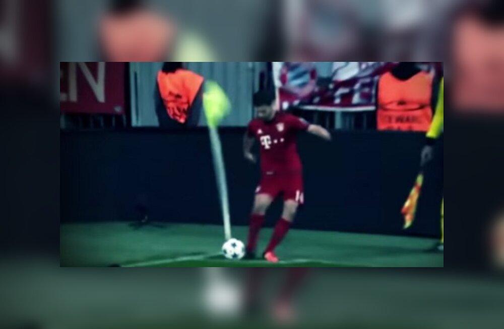 VIDEO: Aegade halvim nurgalöök? Lippu tabanud Alonso suutis palli vaid mõne meetri lüüa