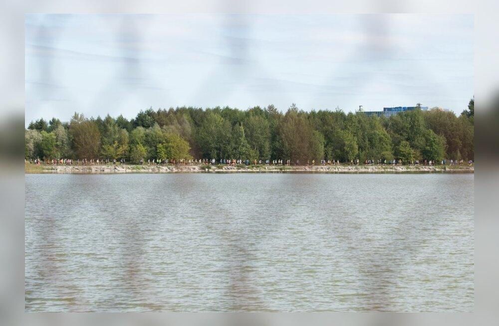Ülemiste veepuhastusjaam ja ümber järve jooks