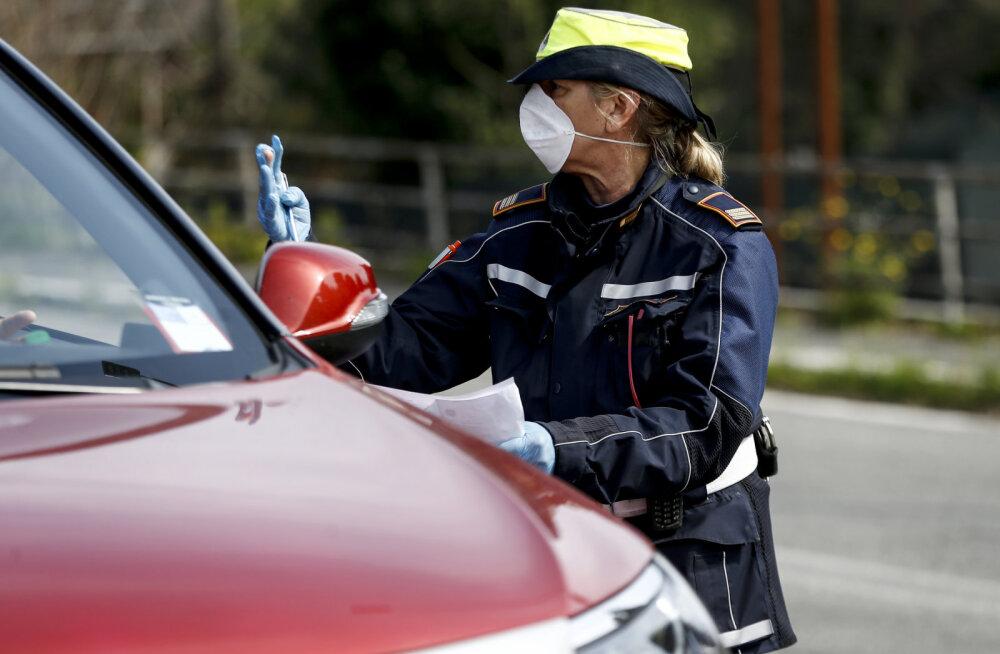 Полиция Италии проверяет водителей на наличие коронавируса