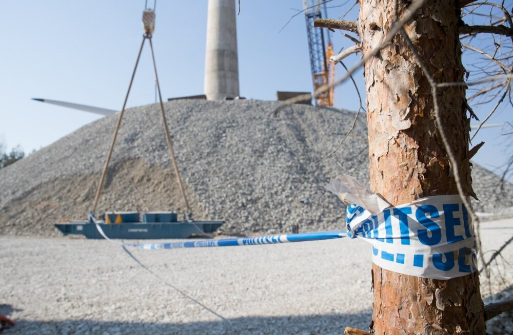 Politsei on Aidu tuulepargis olnud alates 19. aprillist