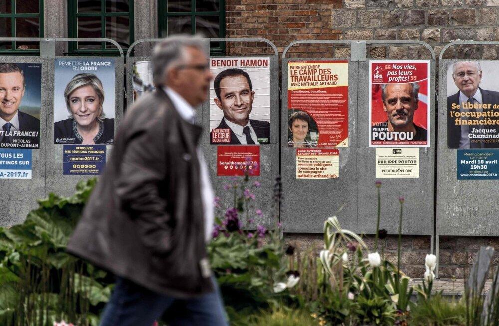 Prantsusmaa presidendivalimised tõotavad tulla tasavägised ja teise vooru pääsejaid ei julge keegi kindlalt ennustada.
