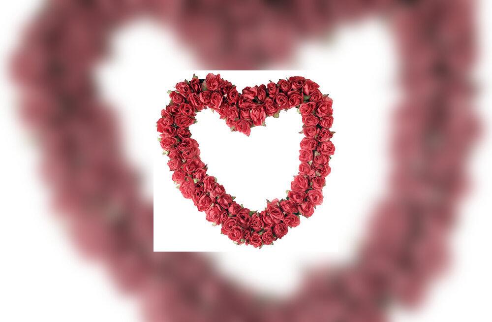 süda, roosid, valentinipäev