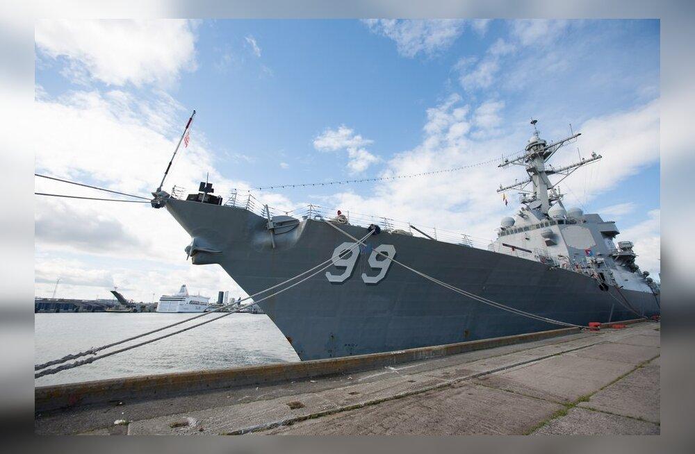FOTOD-VIDEO: Tallinnale tuli USA moodne sõjalaev appi