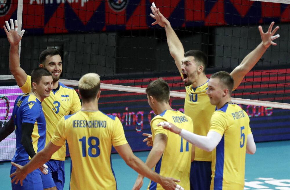 Ukraina jõudis võrkpalli EM-il üle pika aja kaheksa hulka, Holland langes välja