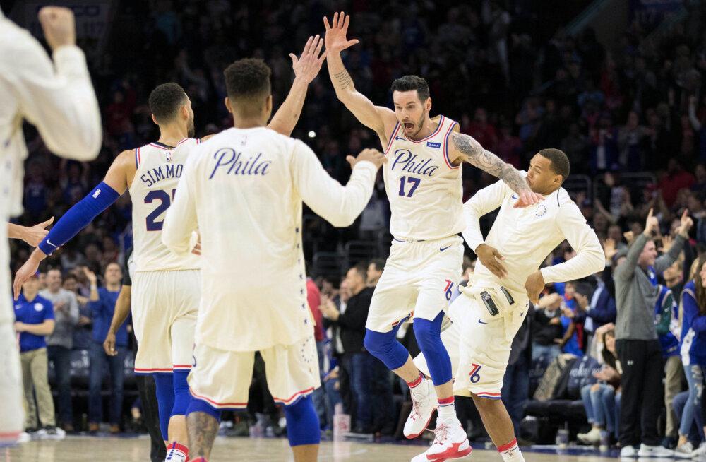 VIDEO   Philadelphia kordas klubi rekordit ja kindlustas play-offi avaringiks koduväljakueelise