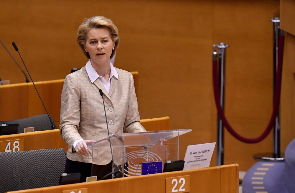 Euroopa Komisjoni president von der Leyen vabandas Euroopa nimel Itaalia ees