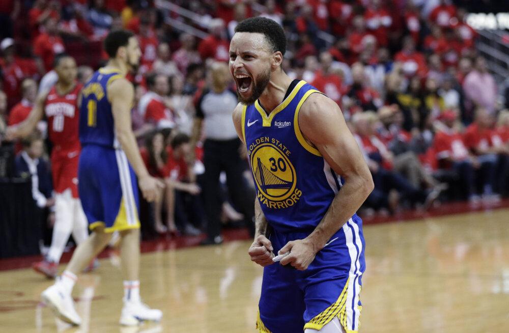 VIDEO | Durantita mänginud Warriors lülitas Rocketsi konkurentsist ja edenes finaali