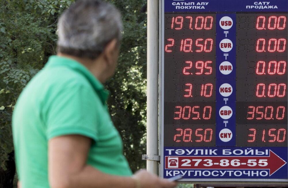 Millised valuutad võivad variseda Kasahstani tenge devalveerimise järel?