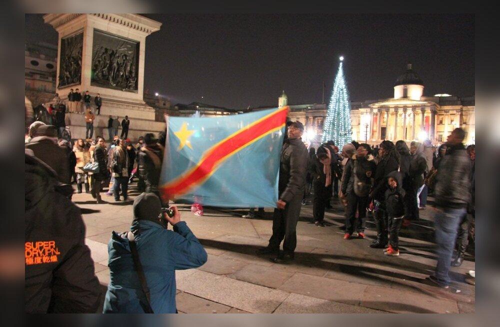 FOTOD: Londoni kongolased protesteerivad poliitikute eelistuste üle