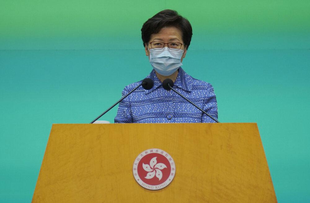 Hongkongi valitsusjuht Lam: julgeolekuseadus on mõeldud käputäie terroristide ja riigivastaste vastu