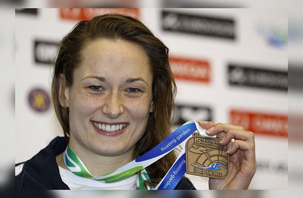 Triin Aljand lühiraja Euroopa meistrivõistluste medaliga, ujumine