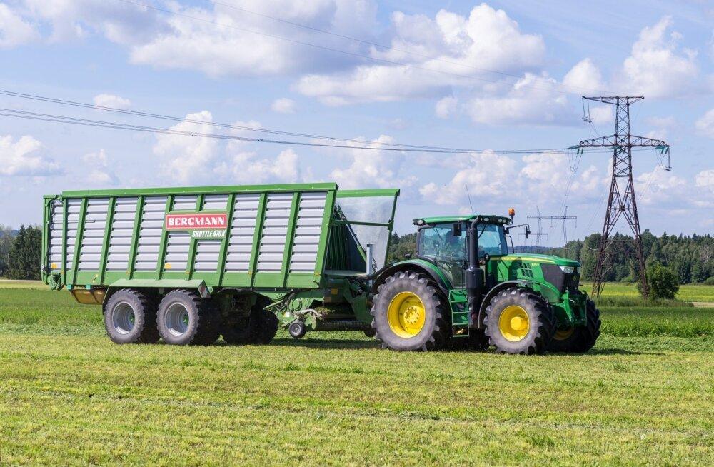 Enne kui suure masinaga põllule minna, on kasulik teada, kas elektriliinid on ikka piisavalt kõrgel.