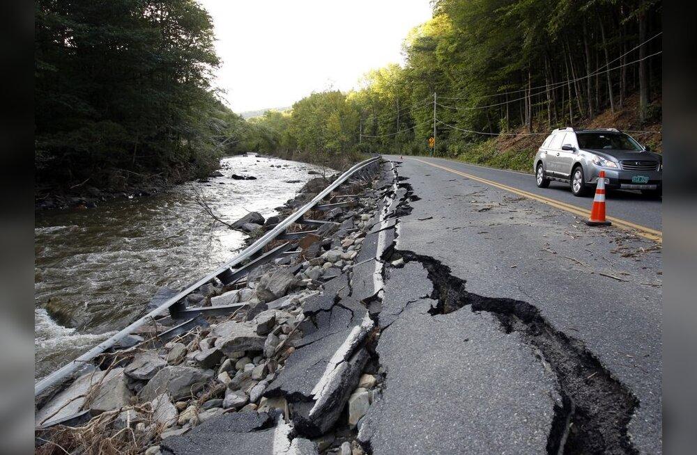 Troopiline torm Irene on USA-s nõudnud 40 inimelu