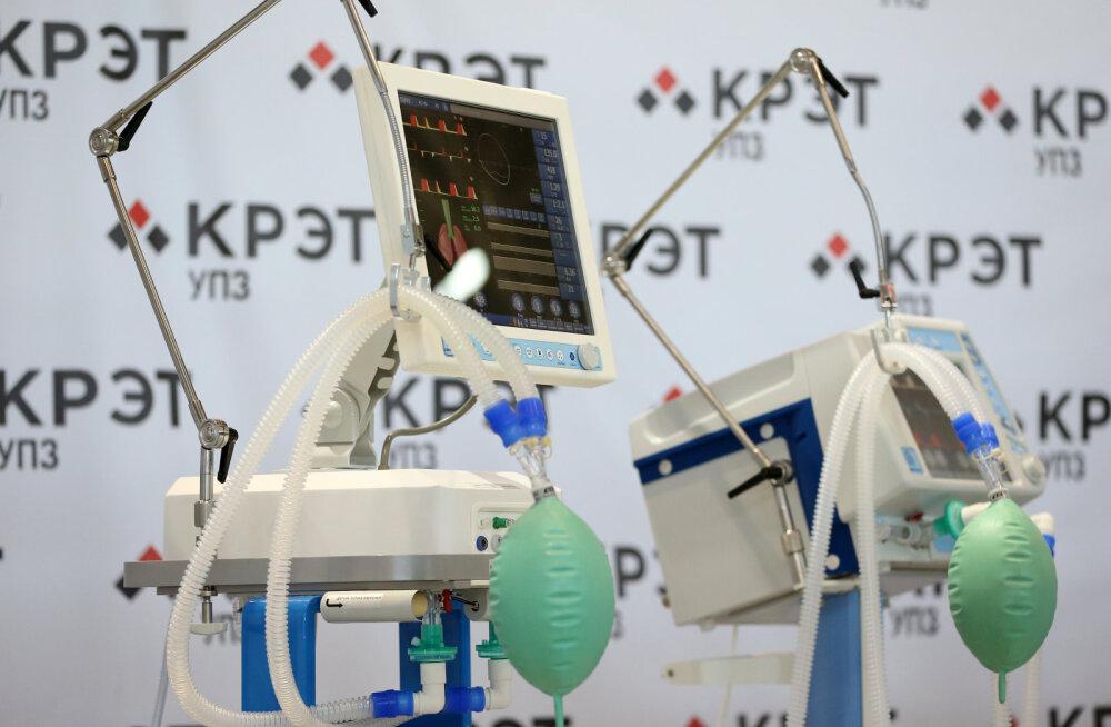 Venemaa peatas haiglates süttinud hingamisaparaatide kasutamise
