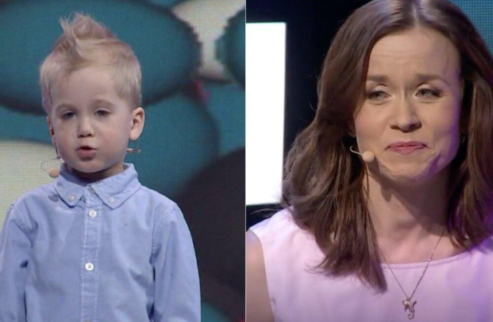 """Evelin Võigemastil lõi """"Väikeste hiiglaste"""" pisikest osalist vaadates emainstinkt välja: võib-olla peaks veel lapsi saama"""