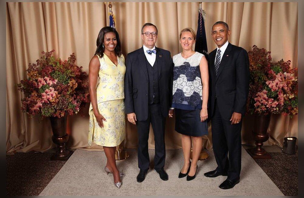FOTOD: Viimane kohtumine esipaaridena! Toomas Hendrik ja Ieva Ilves veetsid Obamadega aega